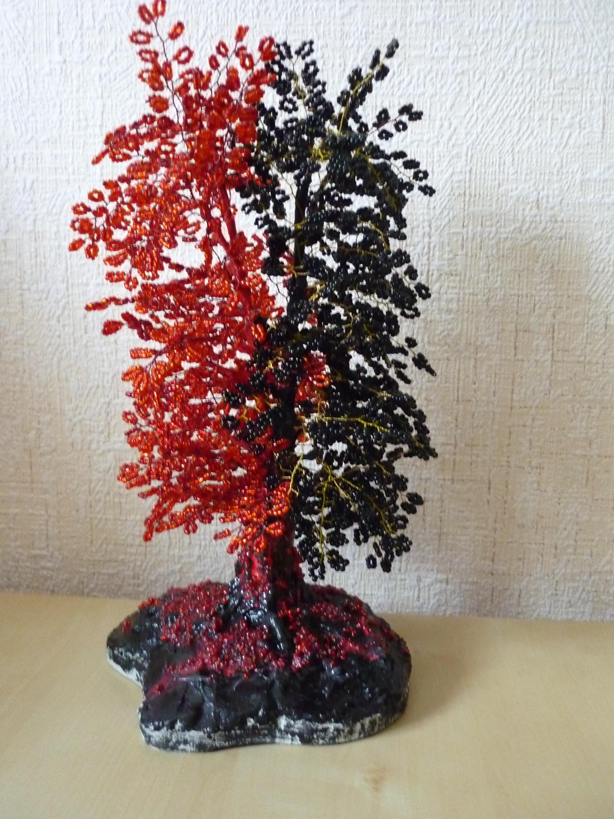 Деревья из бисера своими руками-фото