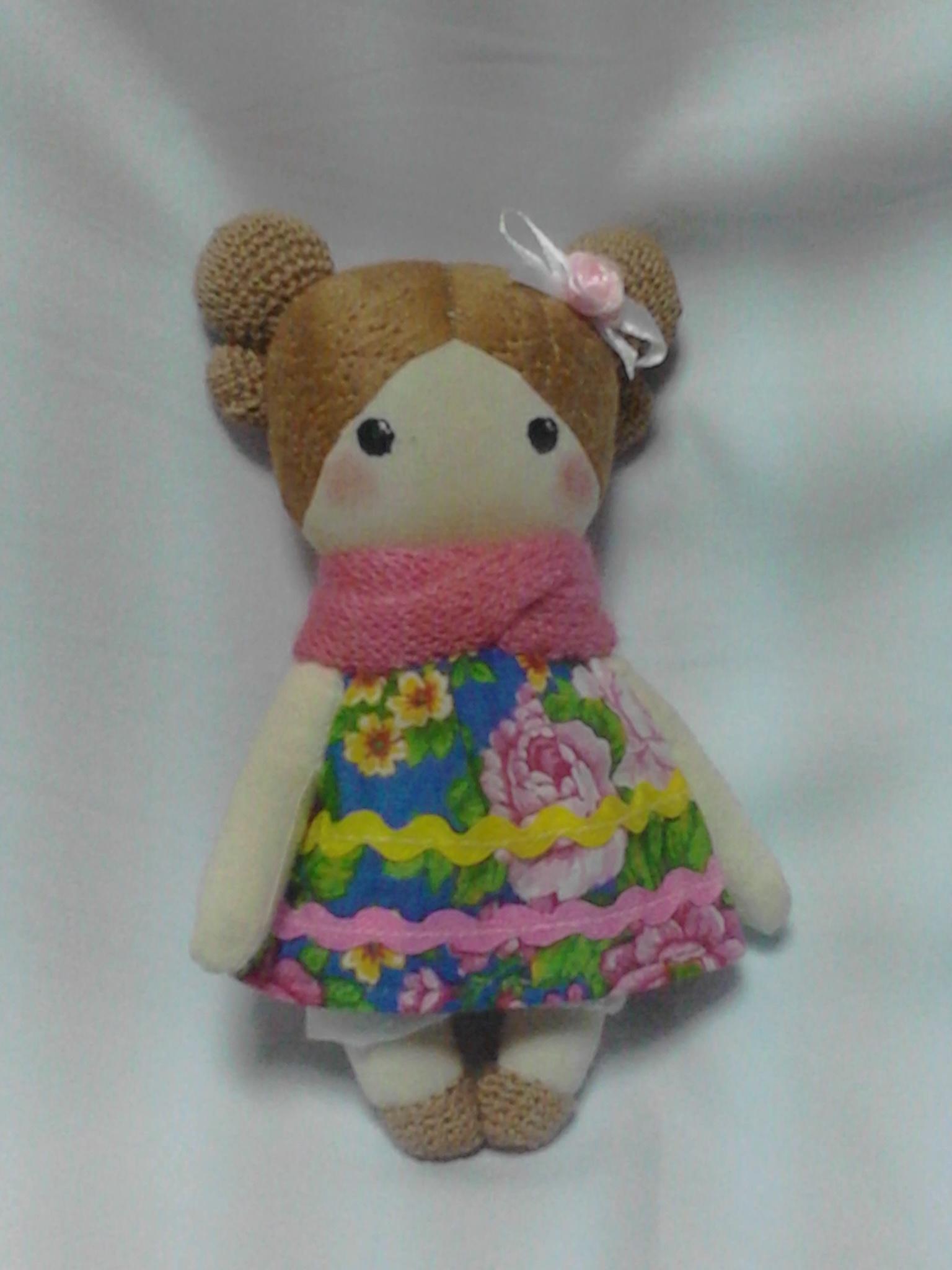 Куколка Ксюша с выкройкой. Фото №3