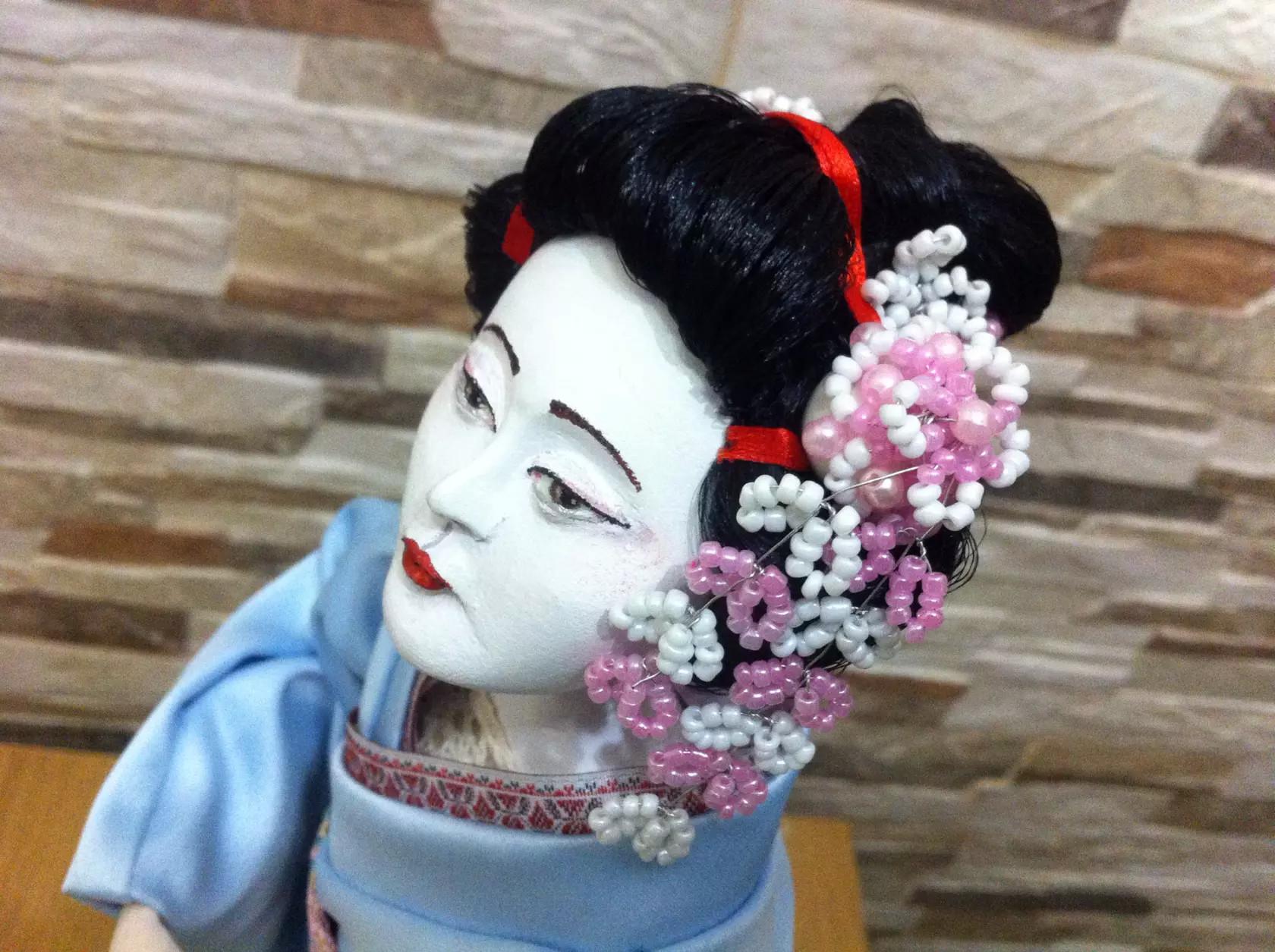 Кукла ручной работы Гейша akimi, куклы своими руками
