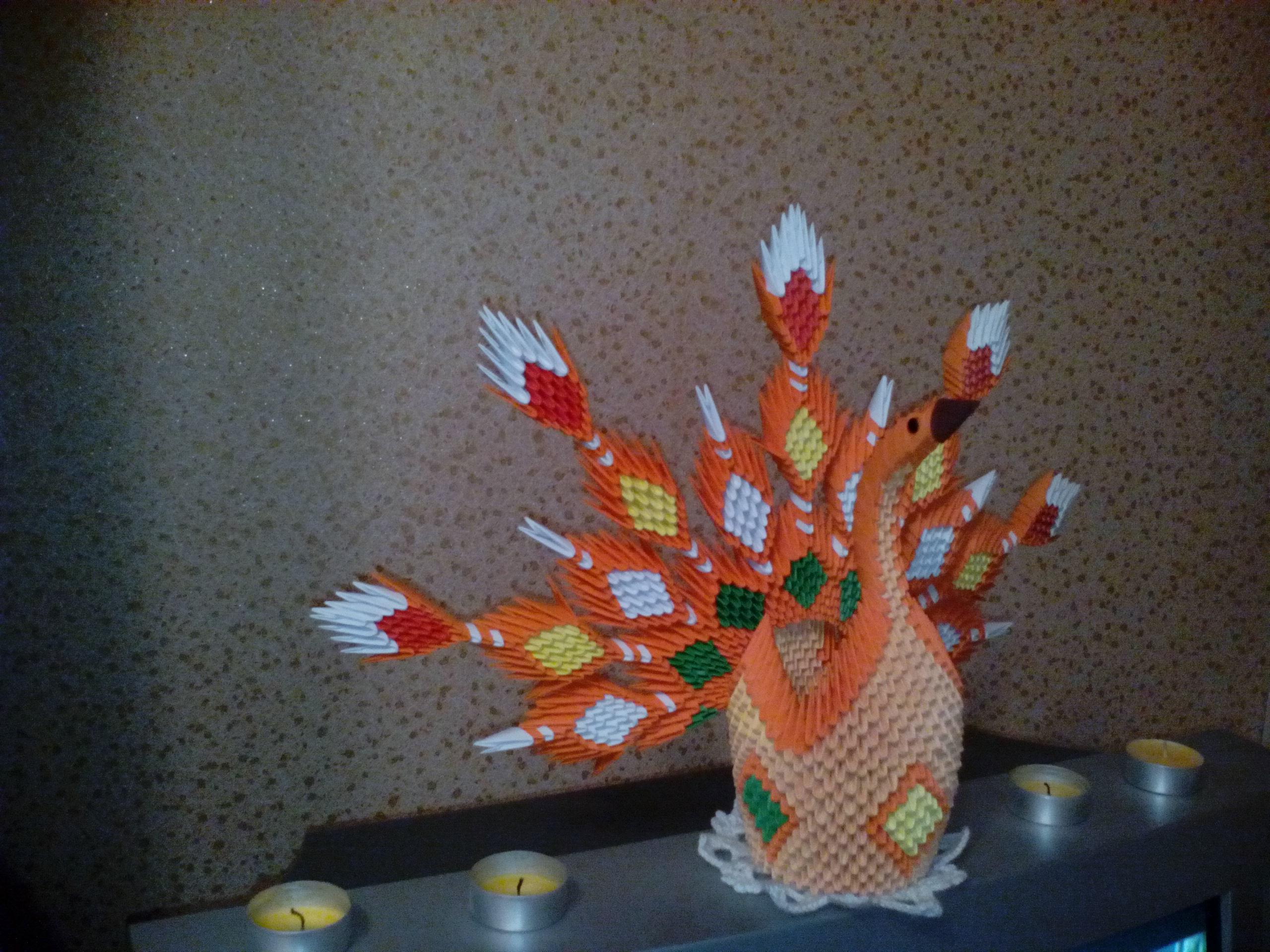 Модульное оригами жар птица подробная схема сборки