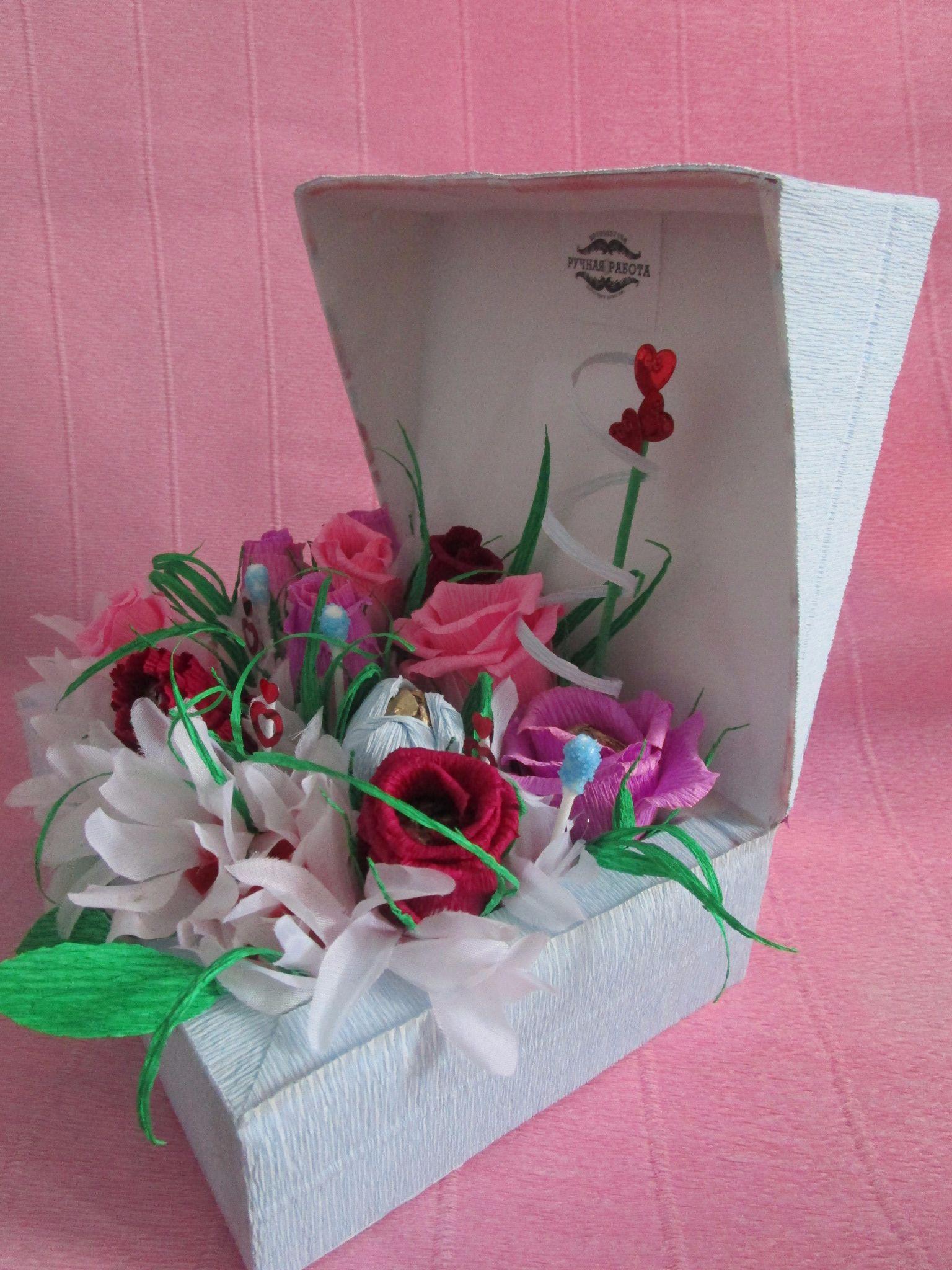 Подарок из коробок конфет 228