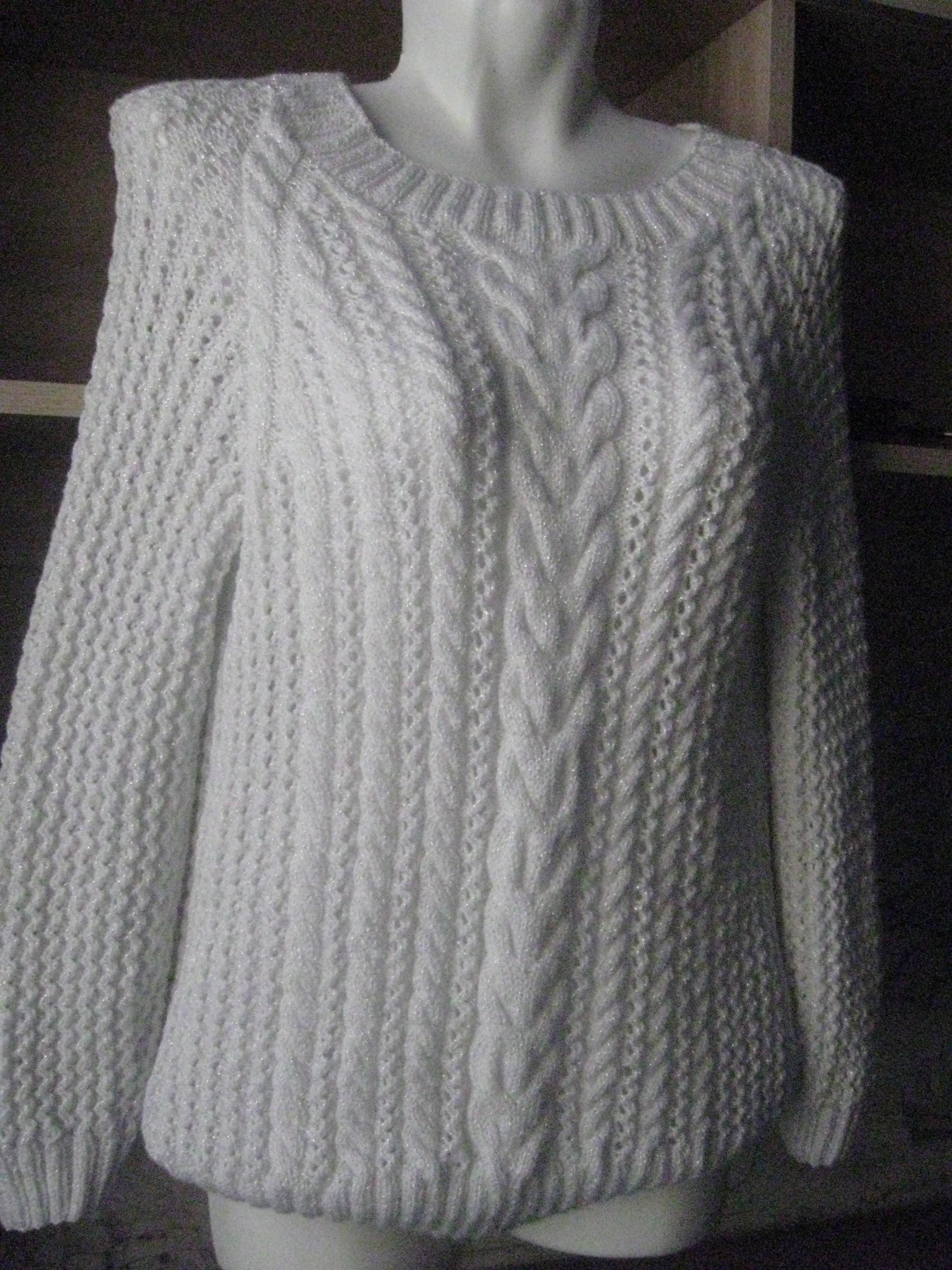 Вязание из пряжи с люрексом спицами фото