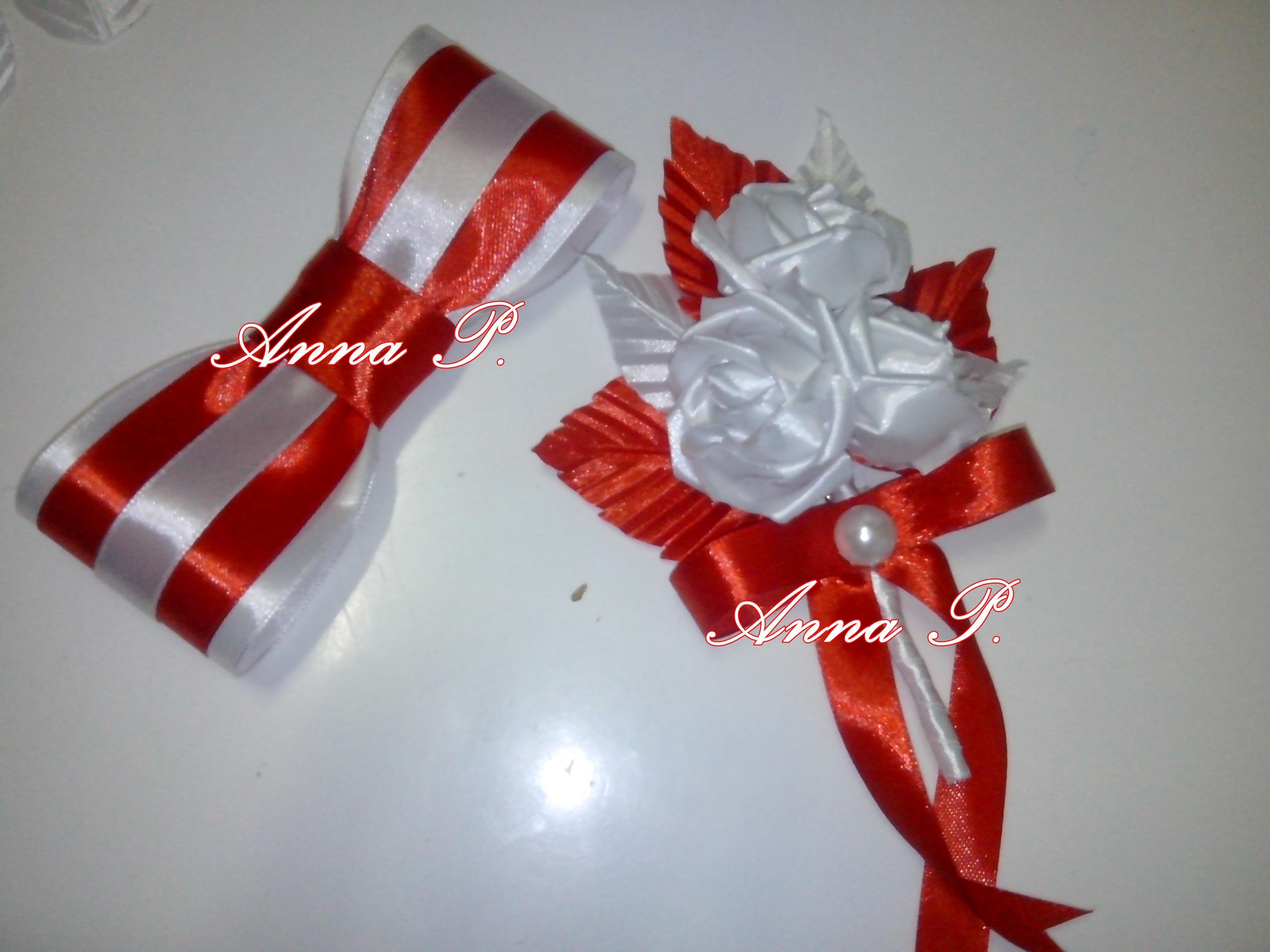 Свадебный набор своими руками из канзаши 53