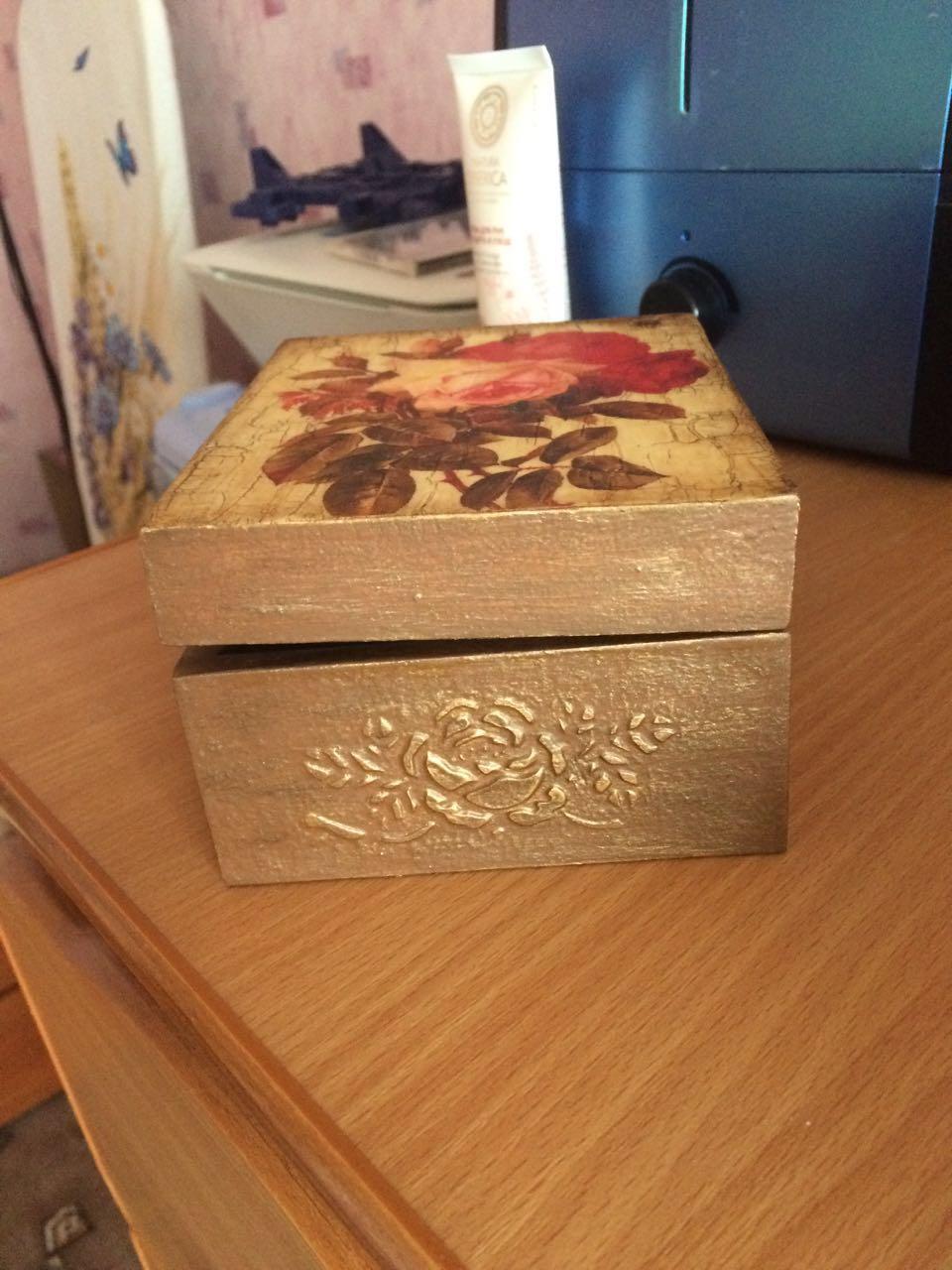 Декупаж коробочки для начинающих пошагово