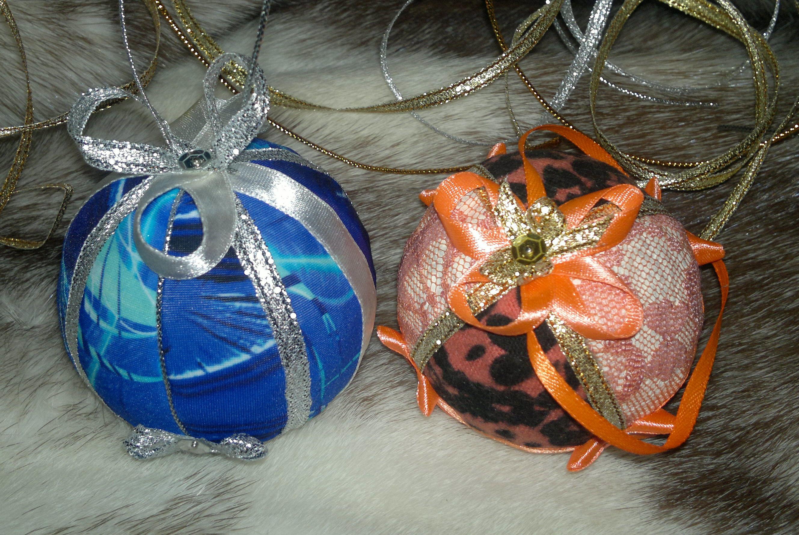 Новогодние шары своими руками мастер класс
