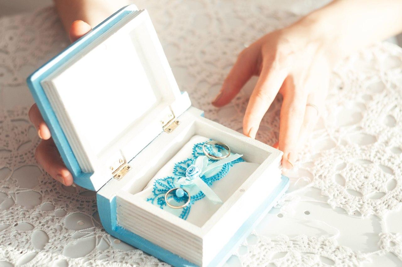 Свадебная шкатулка для колец своими руками