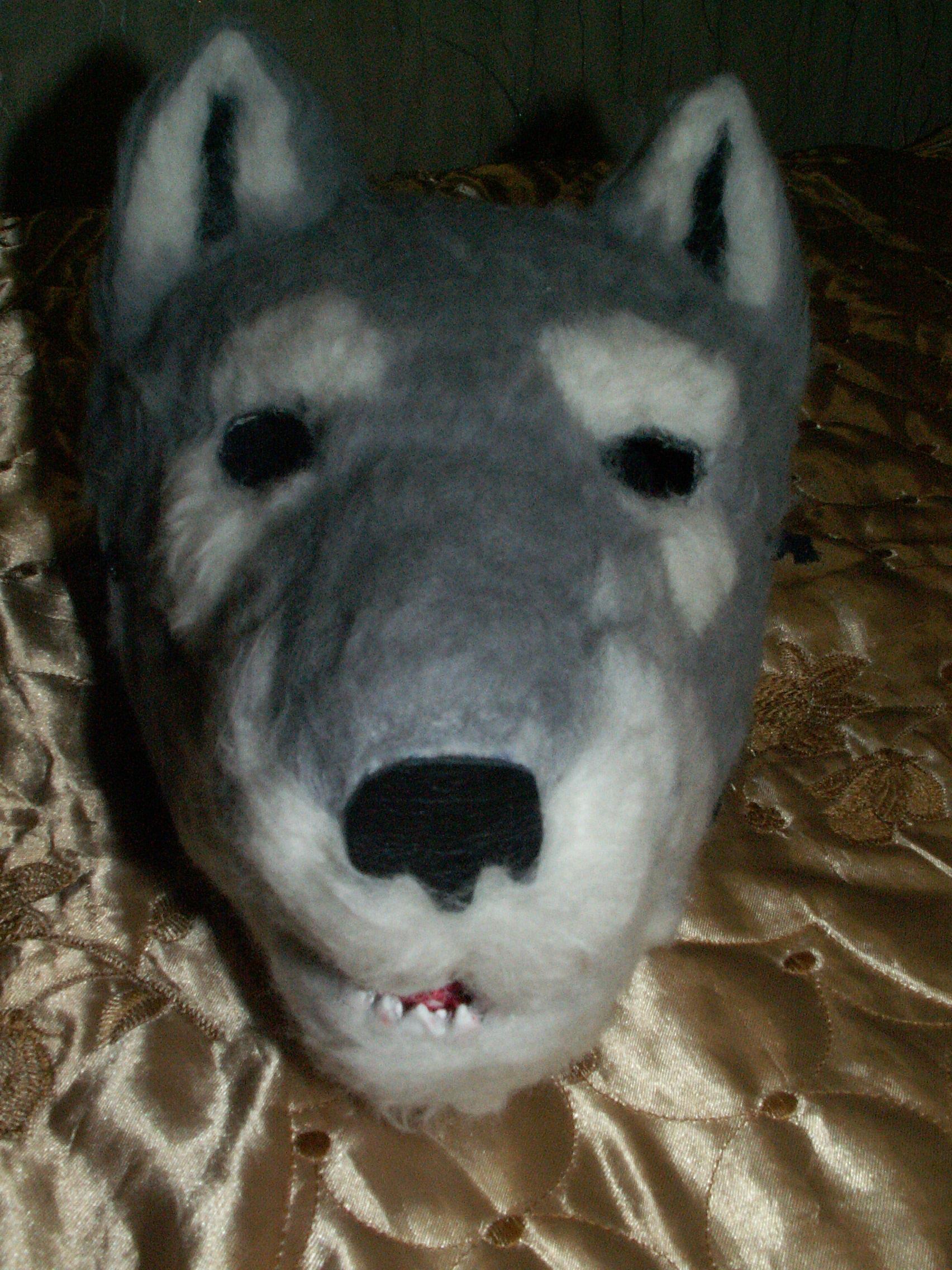 Как сделать маску волка из бумаги и картона СПРОСИ, КАК 2
