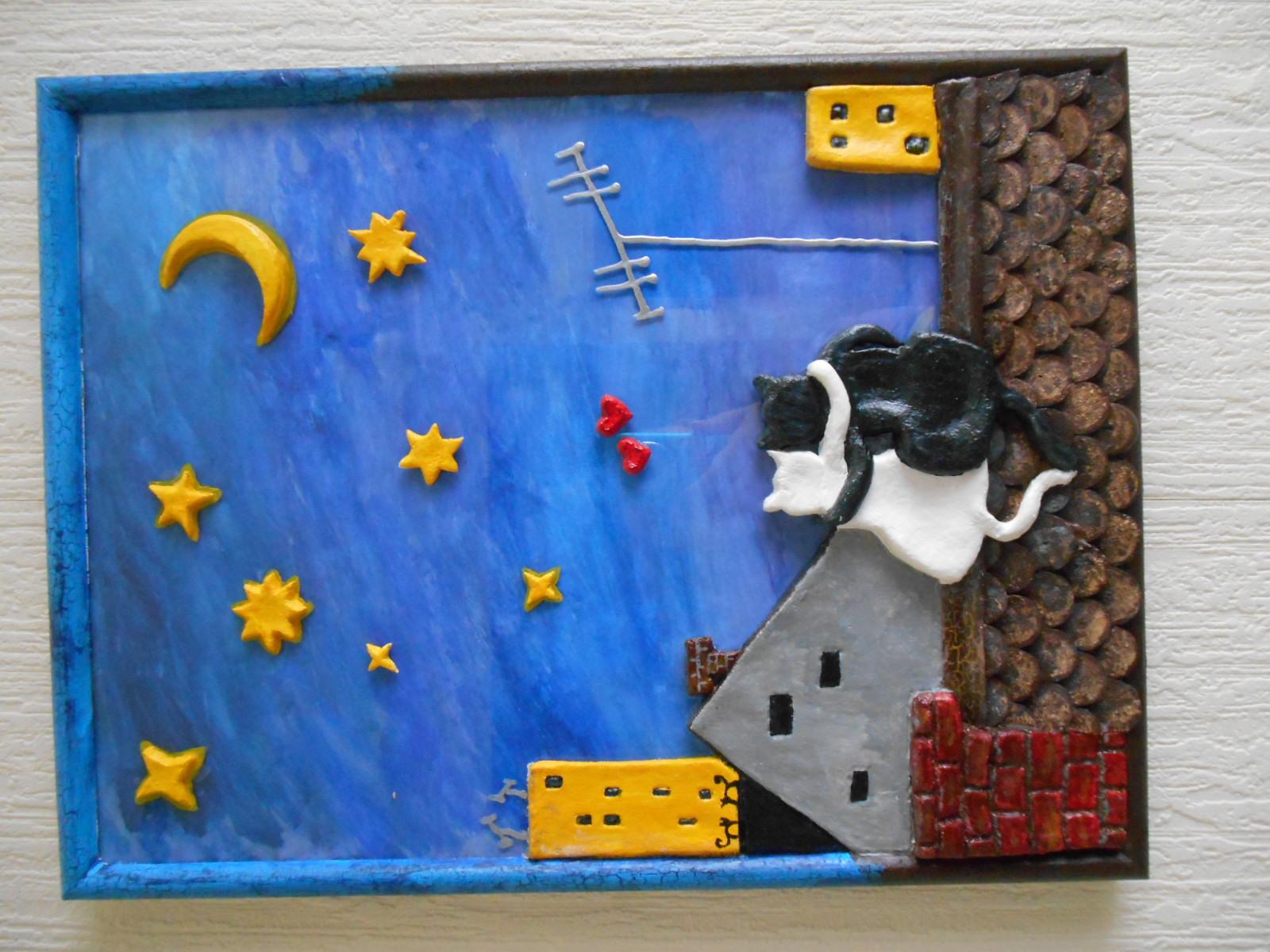 Композиция из биокерамики: Кот и мыши. Фото №1