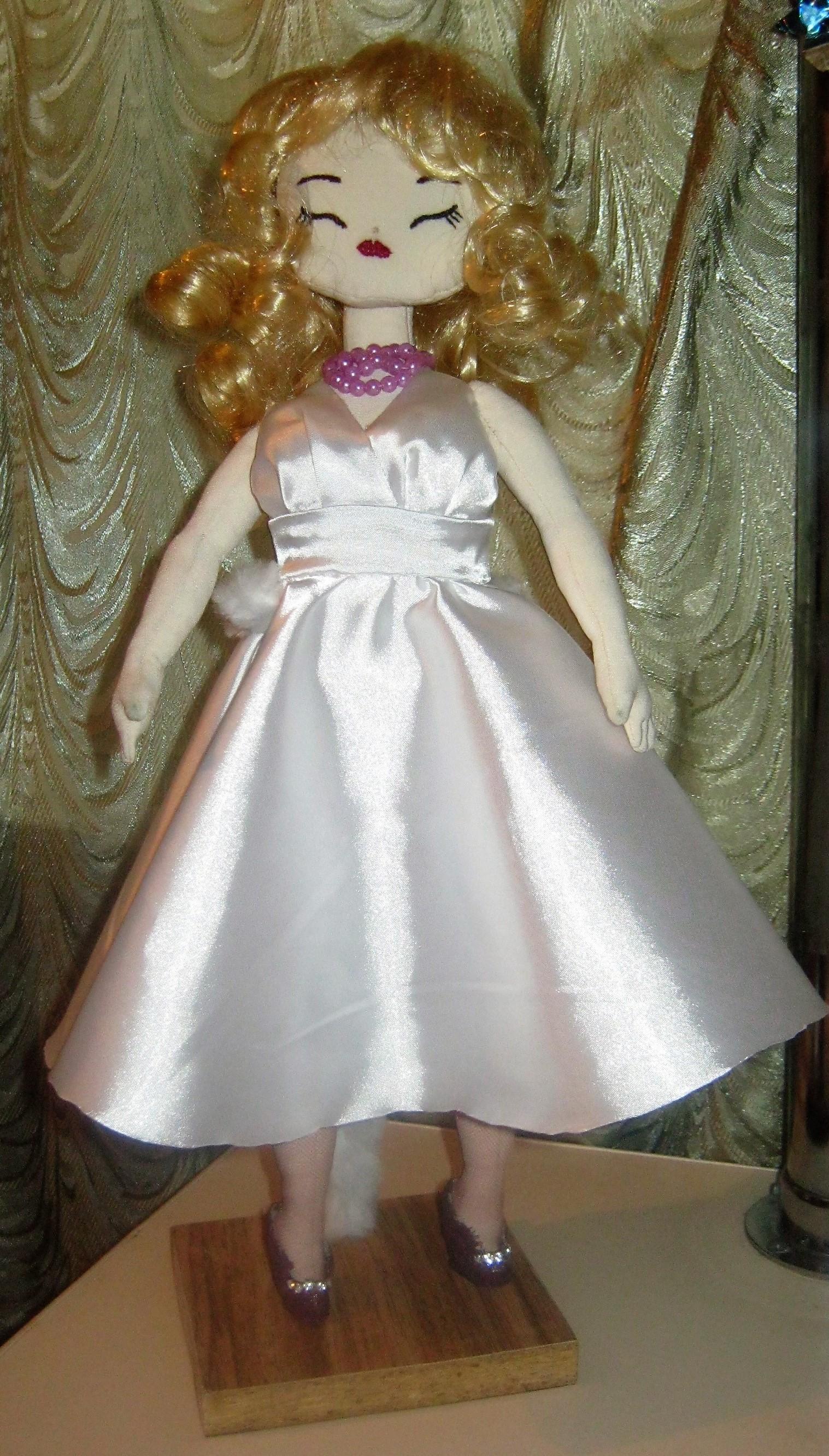 текстильная кукла МОНРО. Фото №1
