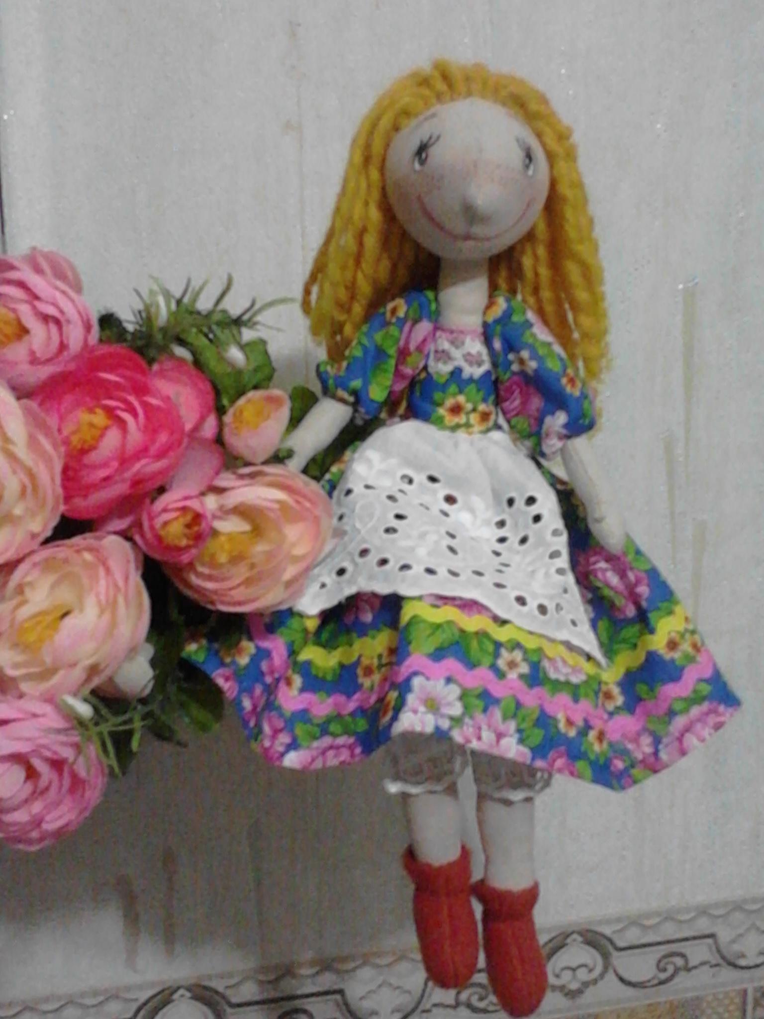 Куколка Ксюша с выкройкой. Фото №2