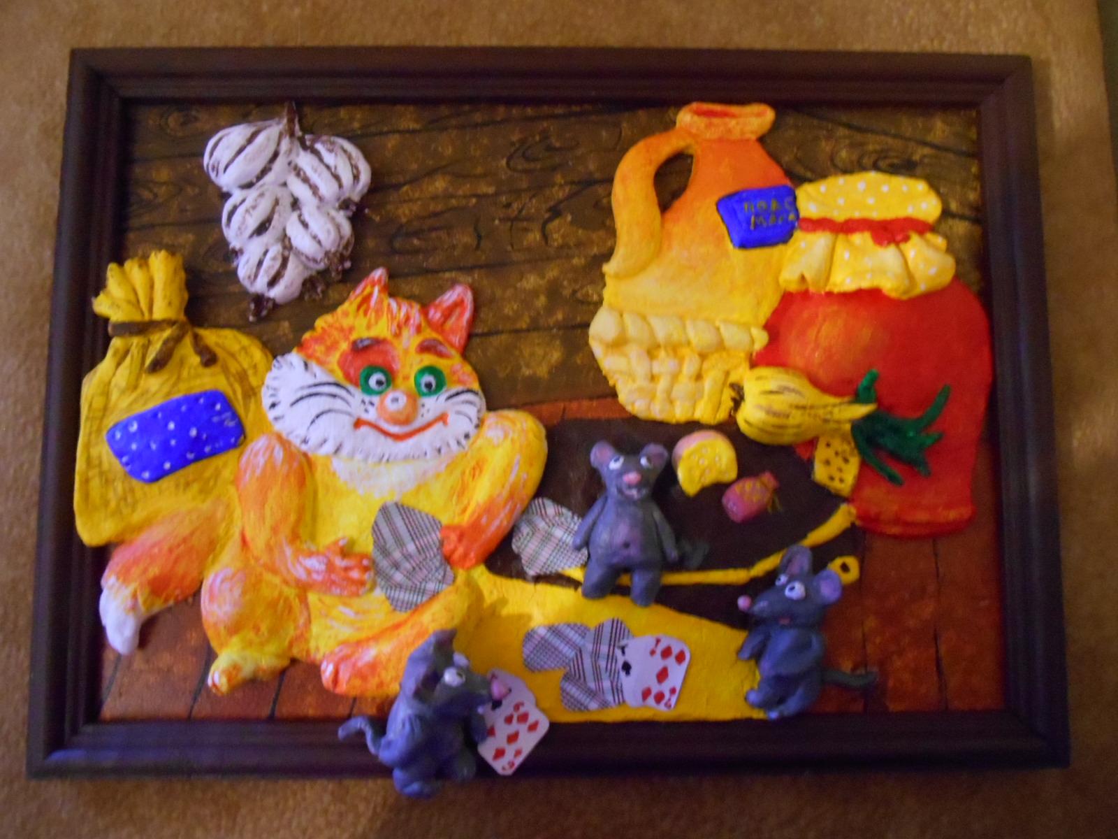 Композиция из биокерамики: Кот и мыши. Фото №2